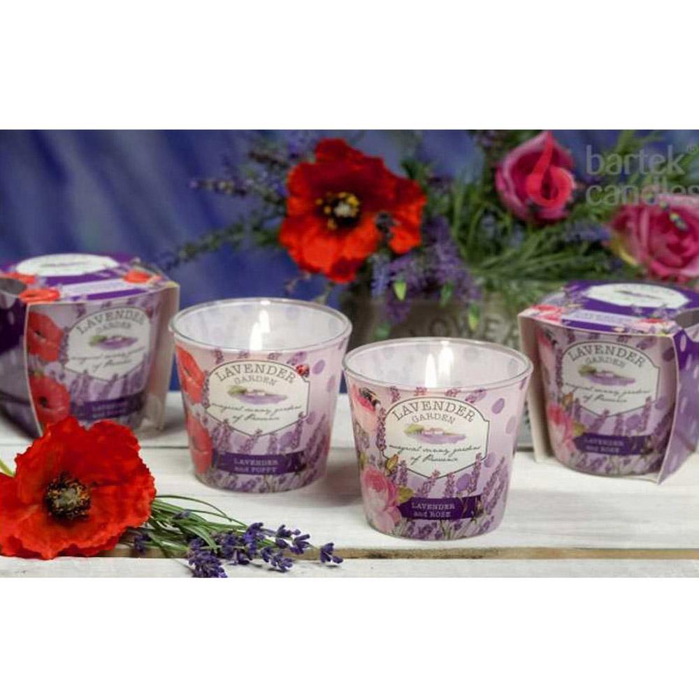 Ly nến thơm tinh dầu Bartek Lavender Garden 115g QT028229 - vườn hoa oải hương (giao mẫu ngẫu nhiên)