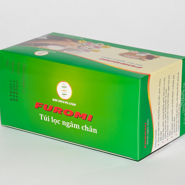 Thảo Dược ngâm chân túi lọc FUROMI dành cho người đau khớp, mất ngủ, gout, khử mùi hôi chân, Người lạnh chân tay, buồn buốt, tê cứng, Người hay mệt mỏi, đau đầu, stress, mất ngủ (Hộp 20 túi lọc 5g)