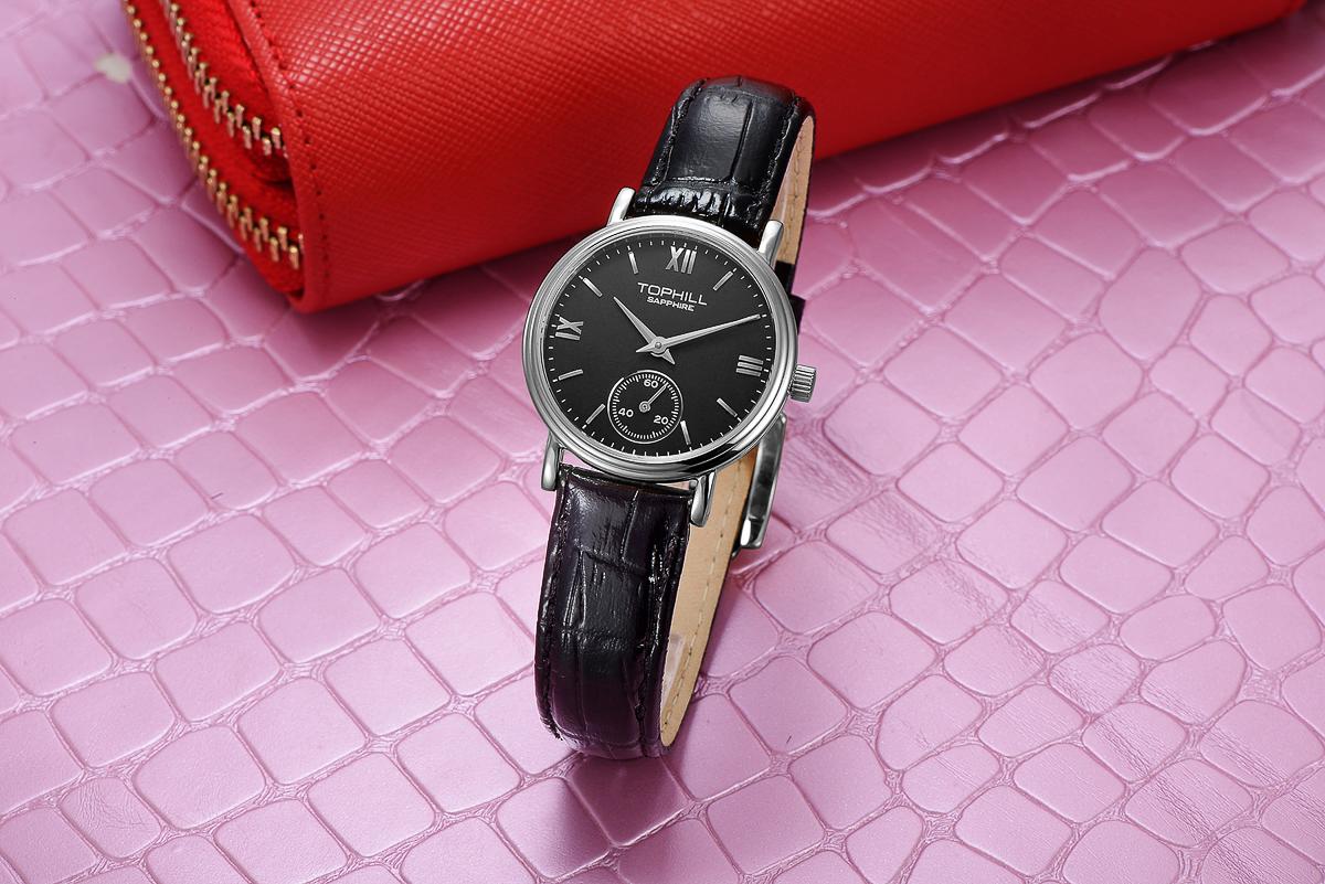 Đồng hồ nữ dây da Thụy Sĩ TOPHILL TA021L.PB1197