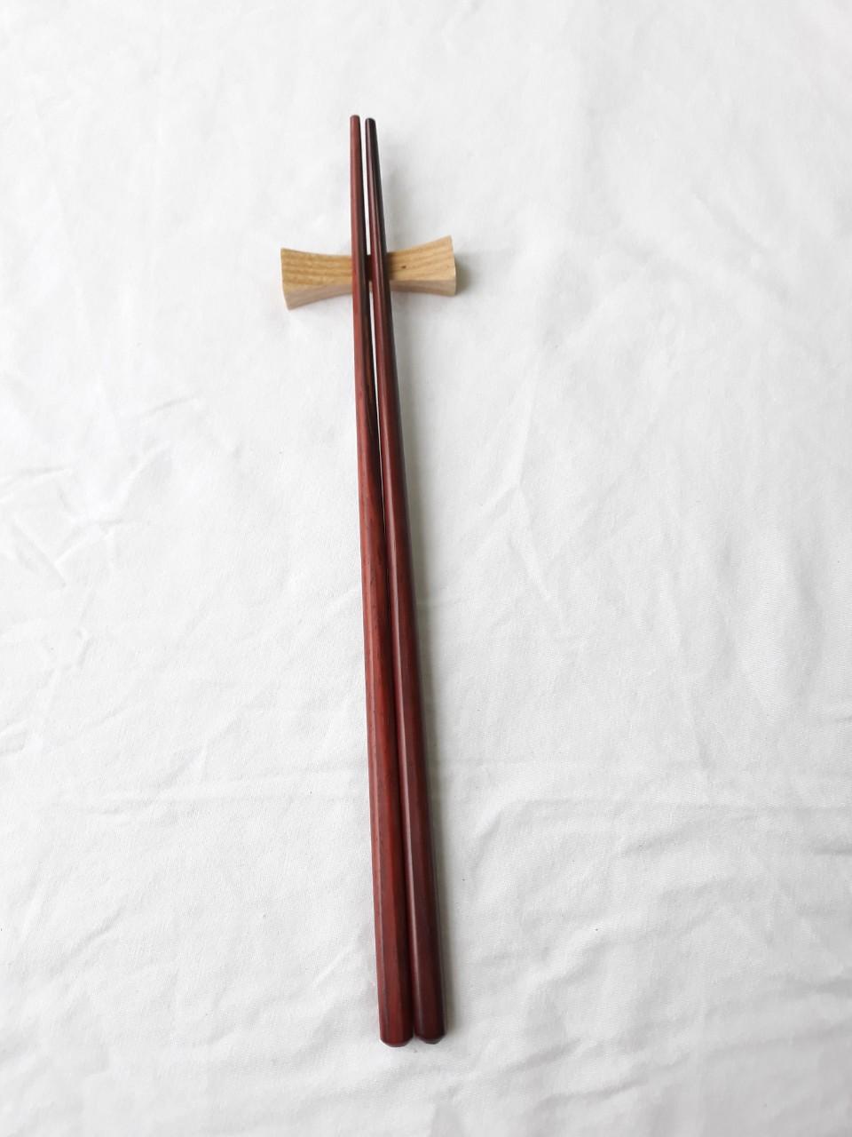 Đũa gỗ trắc đỏ trơn - Bộ 5 đôi