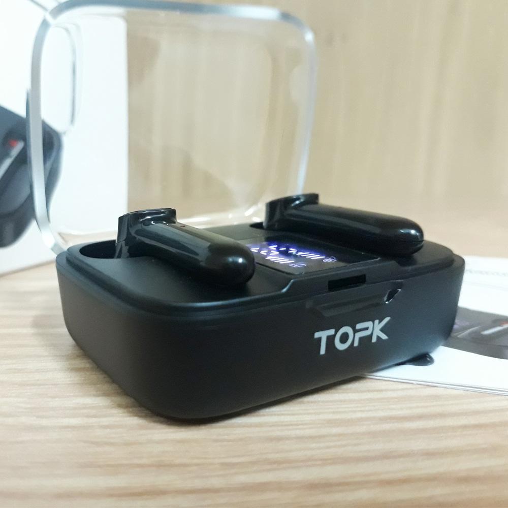 Tai nghe nhét tai bluetooth không dây TOPK T20 - Hàng chính hãng