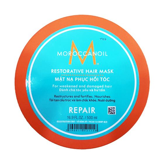 Mặt nạ ủ phục hồi tóc hư tổn Moroccanoil Repair Restorative Hair mask 250ml (Viền cam)