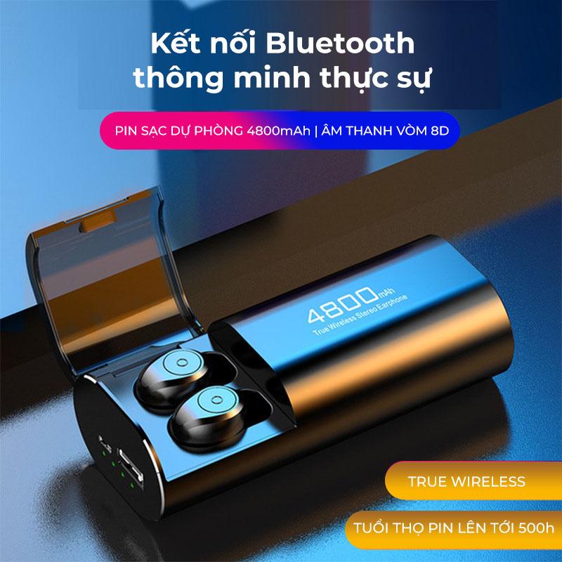 Tai nghe chơi game, nghe nhạc KIÊM PIN SẠC DỰ PHÒNG dung lượng cao, kết nối Bluetooth 5.0, kiêm Giá đỡ điện thoại - Hàng chính hãng