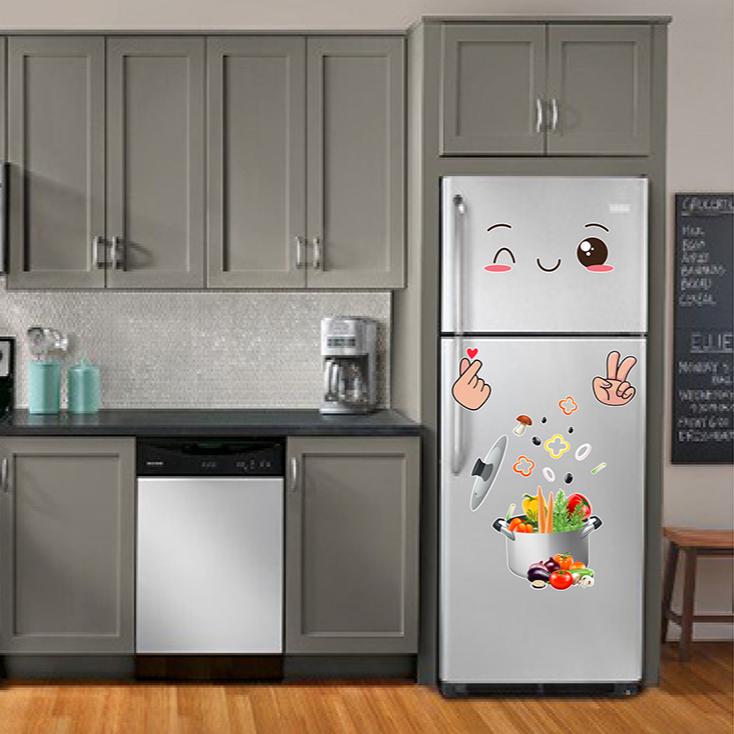 Decal trang trí tủ lạnh số 17