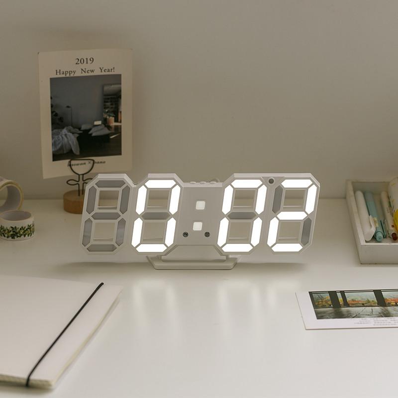 Đồng hồ CAILY LED trắng hiện thị đa chức năng kiểu dáng hiện đại