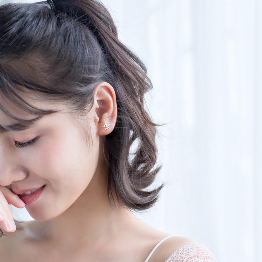 Bông Tai Nữ | Bông Tai Nữ Bạc Bông Tuyết B2419 - Bảo Ngọc Jewelry