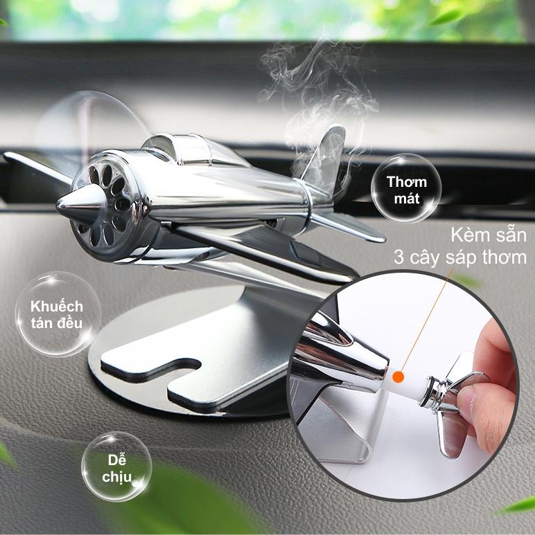 Sáp thơm xe hơi chạy bằng năng lượng mặt trời mô hình máy bay