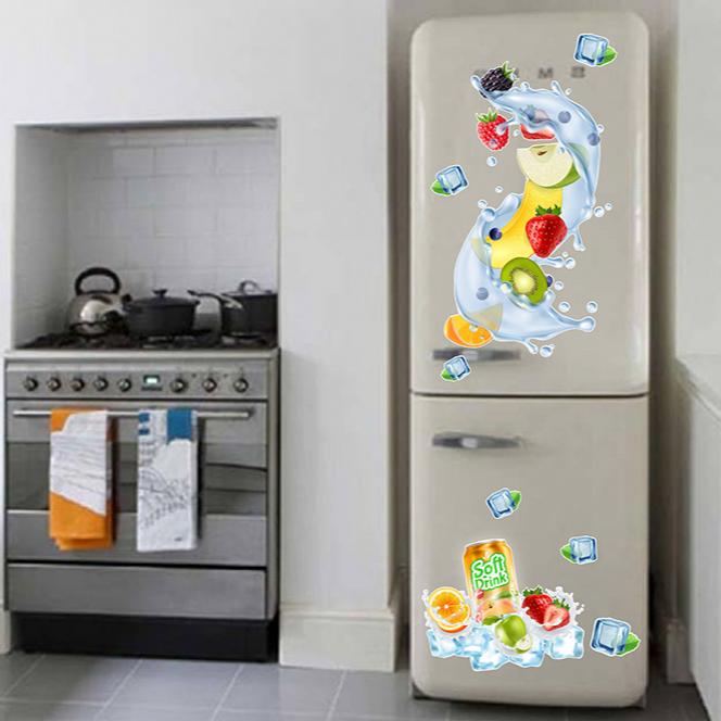 Decal trang trí tủ lạnh số 5