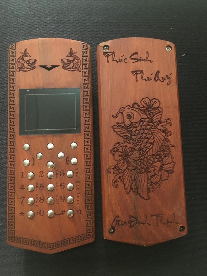 Vỏ gỗ cho điện thoại Nokia 110i mẫu Mã đáo thành công