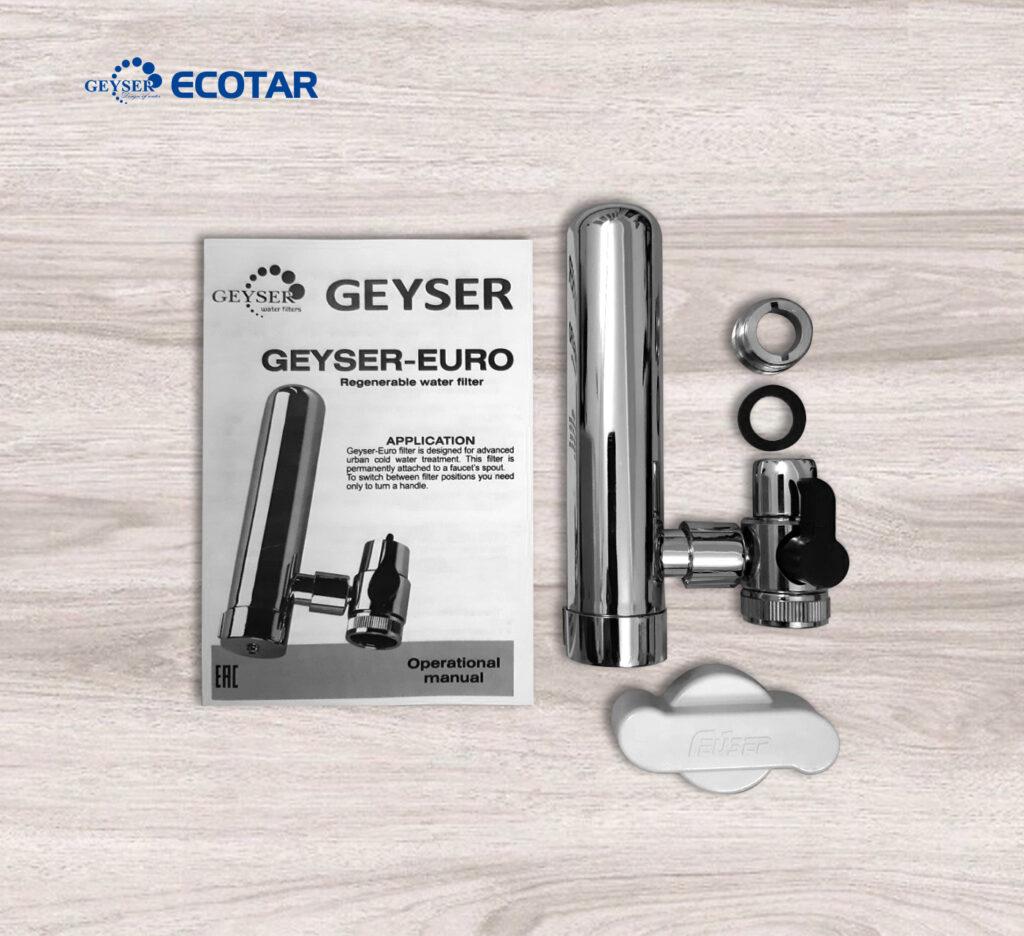 Máy lọc nước tại vòi Geyser Euro M- Hàng nhập khẩu
