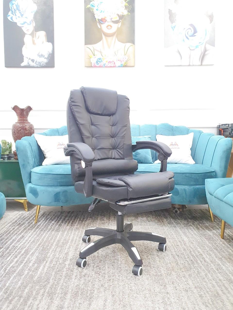 Ghế massage văn phòng nhập khẩu DA001 (ĐEN/KEM)