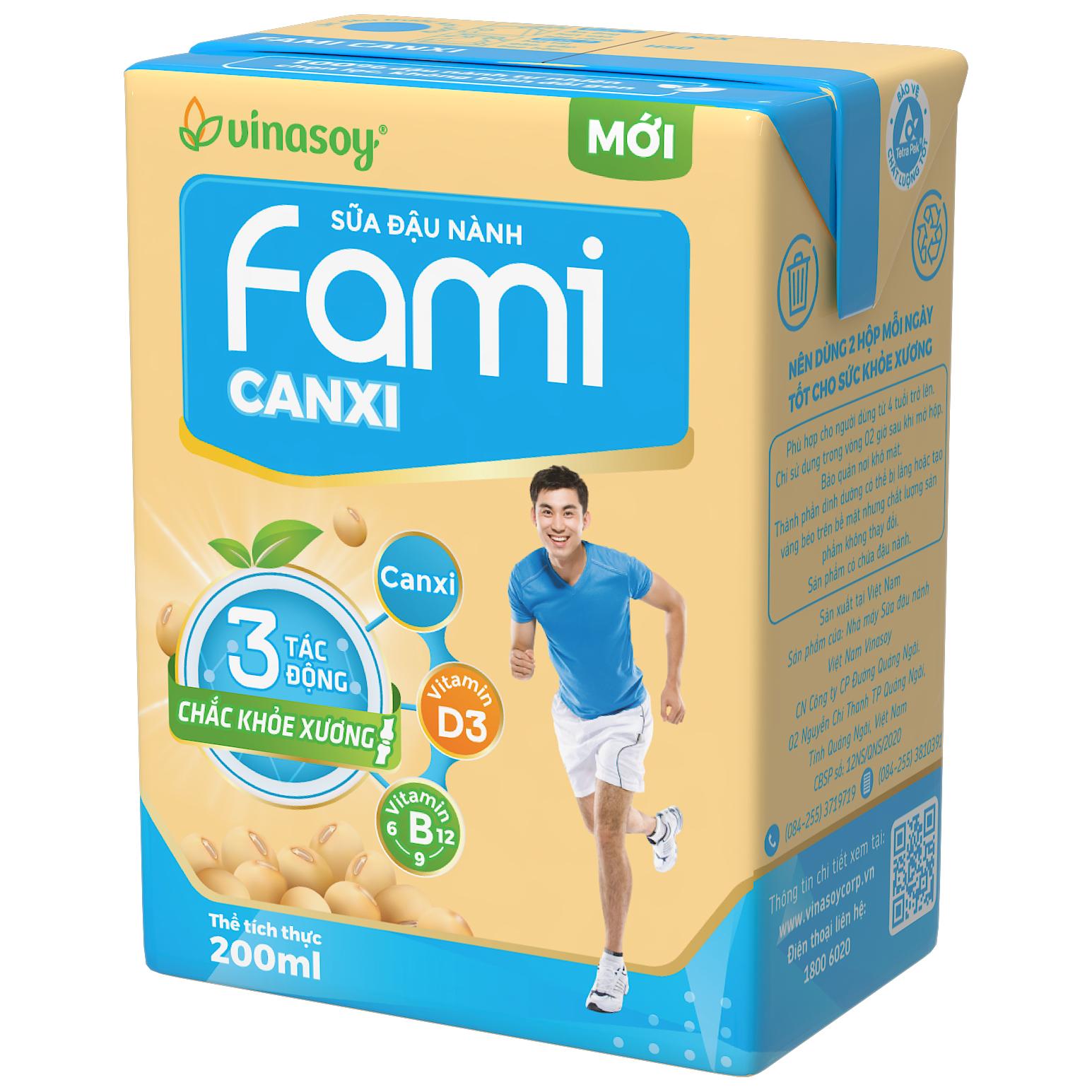 Hình ảnh Thùng 36 Hộp Sữa đậu nành Fami Canxi (200ml/Hộp)
