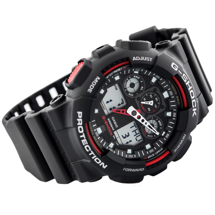 Đồng hồ nam dây nhựa Casio G-Shock chính hãng GA-100-1A4DR