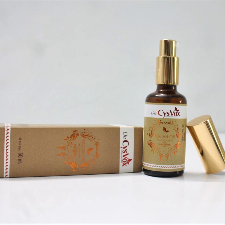 Serum giữ nếp tóc De CysVox chiết xuất macamadia & argan oil 50ML