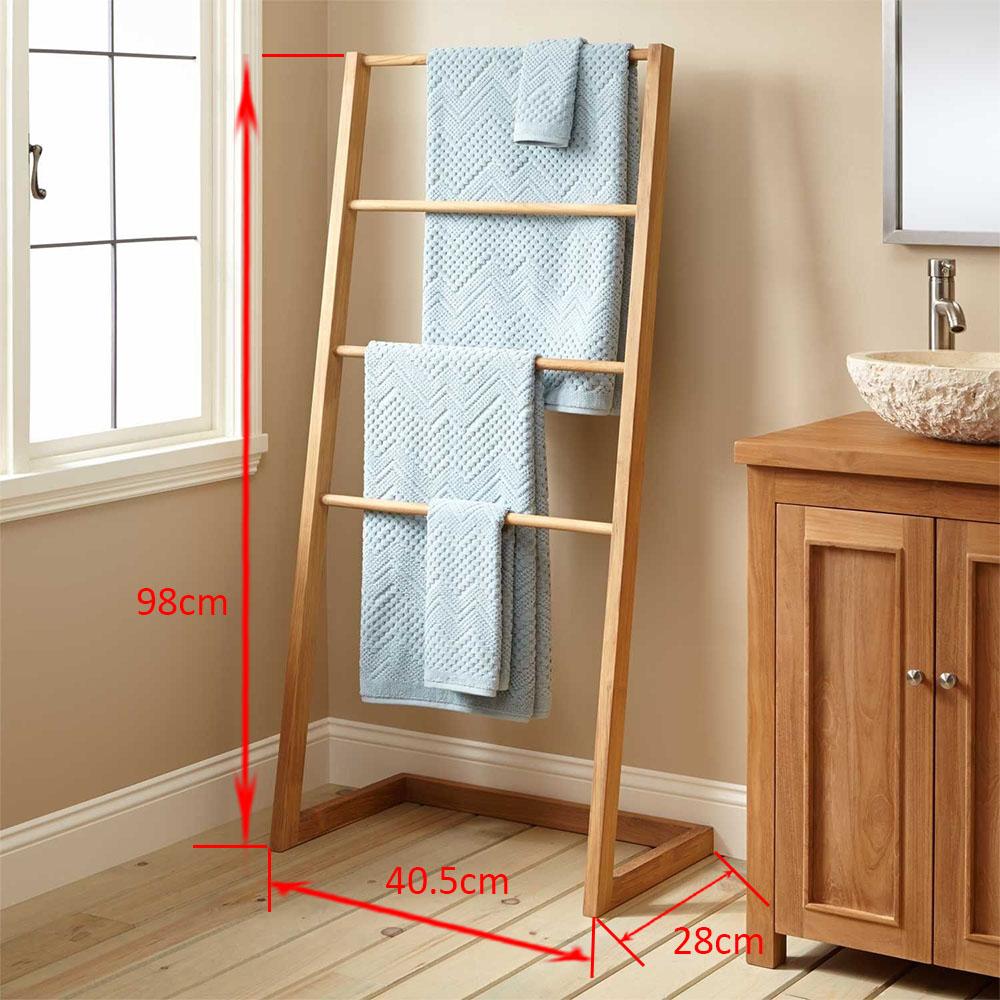 Giá Treo Khăn Tắm Hình Thang - Kích thước 40 x 30 x 98 ( cm ) Giá treo khăn tắm hiện đại, giá treo khăn tắm hình thang tinh tế - Gỗ tự nhiên 100% - Độ bền, chất lượng cao