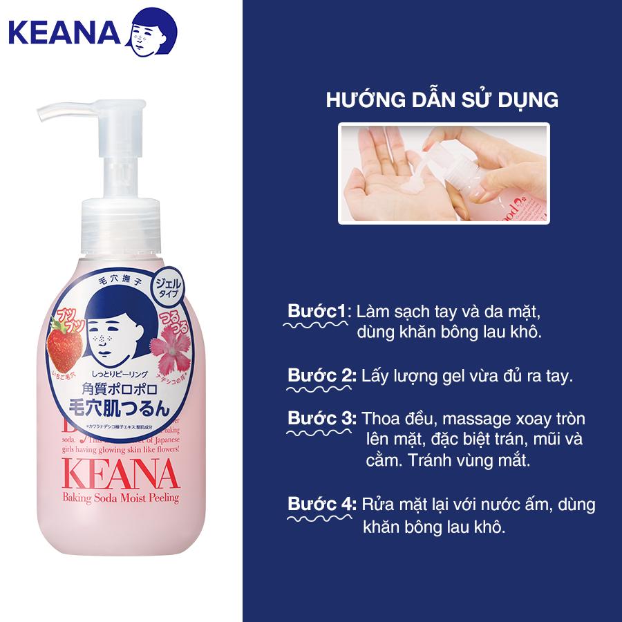 Gel Tẩy Tế Bào Chết Keana Baking Soda Moist Peeling (120G) - HÀNG CHÍNH HÃNG