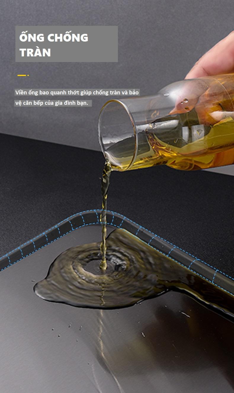 Thớt Inox 304 Cao Cấp SPEVI 2 Mặt - Có Rãnh Chống Tràn Nước, Chế Biến Thức Ăn Sạch Sẽ Và Không Bay Mùi, Thay Thế Cho Loại Thớt Gỗ Truyền Thống - Hàng Chính Hãng