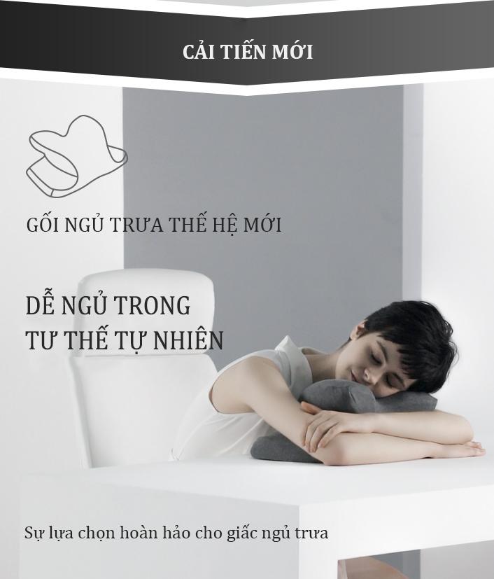 Gối văn phòng SHIME, Gối ngủ trưa lõi cao su non, thiết kế đặc biệt giúp ngủ nhanh hơn, không tê tay khi phải ngủ trên bàn làm việc