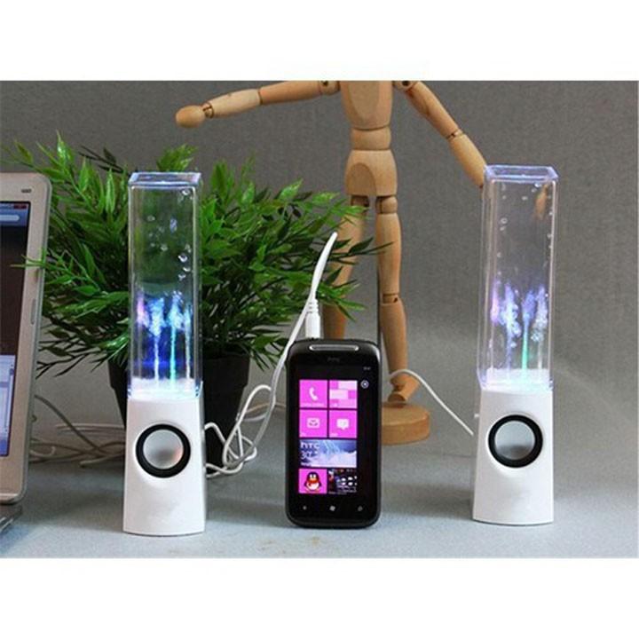 Bộ Loa Vi Tính Nhạc Nước Đèn LED Phát Sáng Nhảy Theo Điệu Nhạc - Nguồn USB Jack 3.5