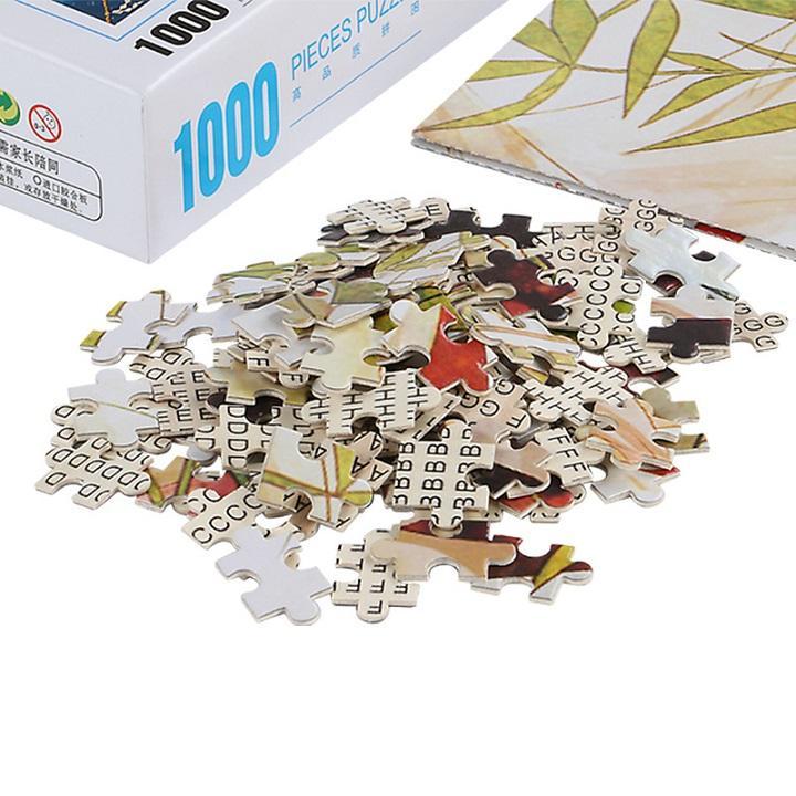 Tranh xếp hình 1000 mảnh bằng gỗ - Biệt thự creekside