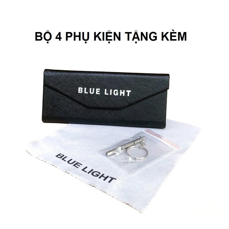 Kính Giả Cận, Gọng Kính Cận Nam Nữ Mắt Tròn Gọng Bạc Viền Trong Suốt Không Độ Hàn Quốc - BLUE LIGHT SHOP