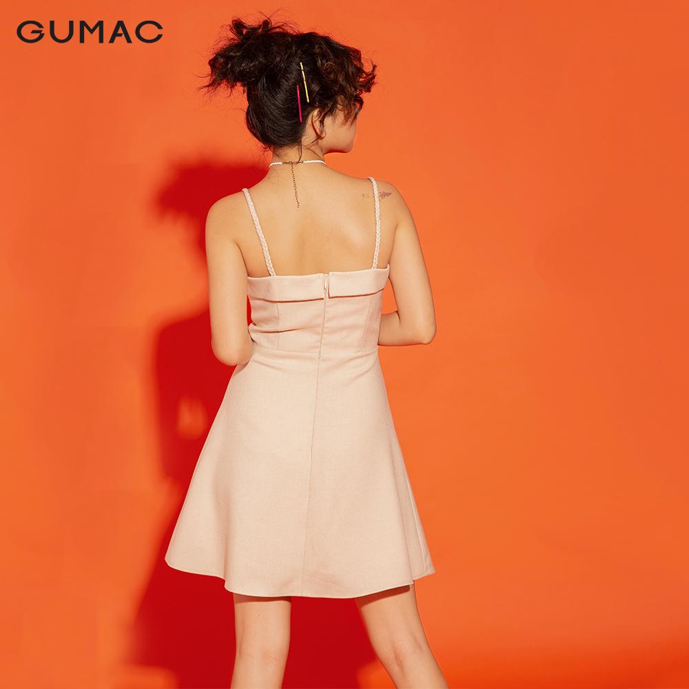 Đầm cúp ngực dây đan GUMAC DA12173