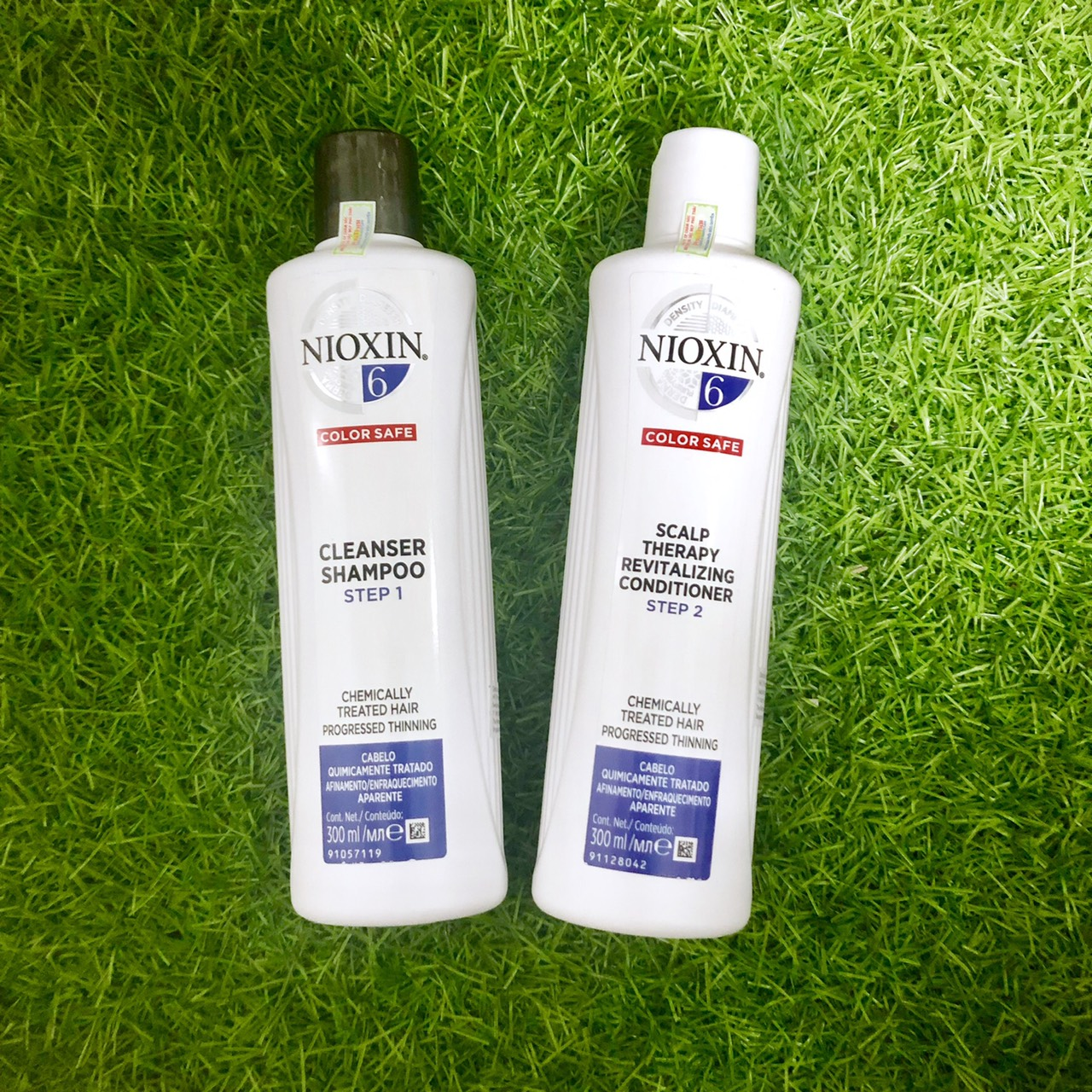 Dầu gội xả Nioxin 6 Chemically Treated Hair Progressed Thinning Cho tóc uốn duỗi tẩy có dấu hiệu thưa rụng Mỹ 300ml