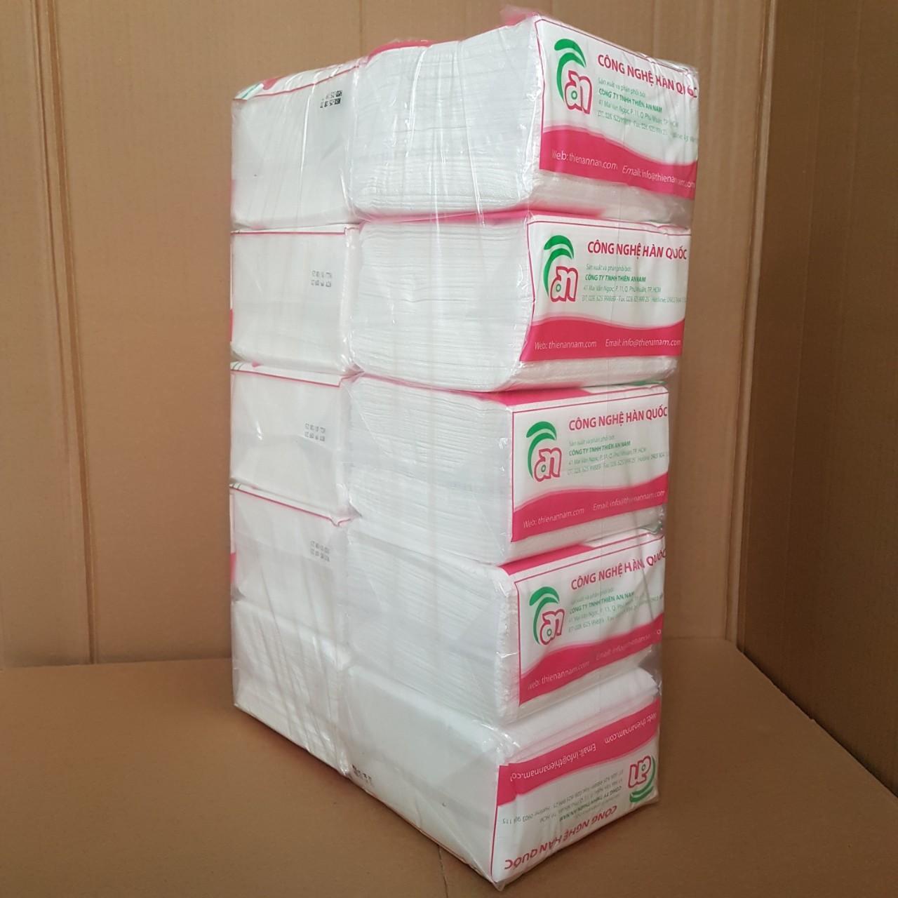 Cây (10 gói) khăn giấy vuông Napkin Hàn Quốc 100 tờ/ gói - 320x330mm