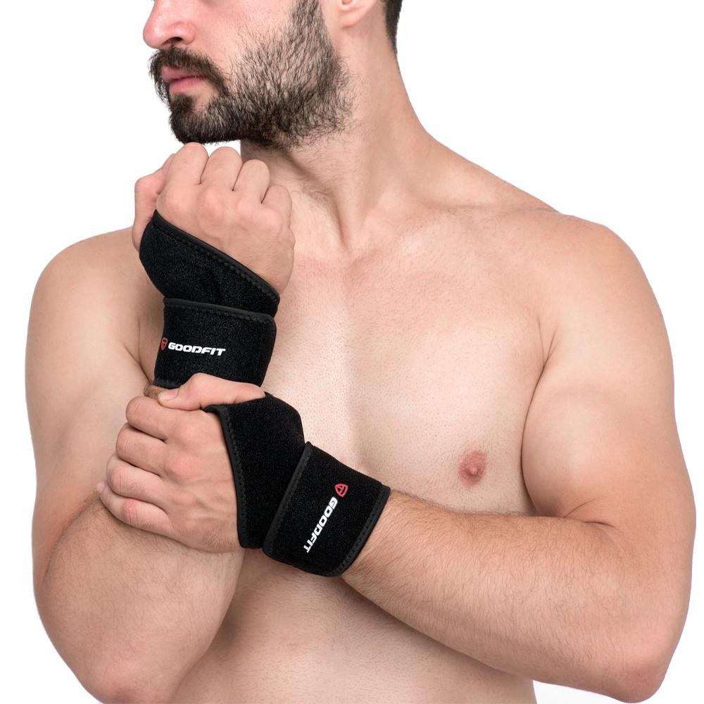 Băng quấn cổ tay xỏ ngón hỗ trợ tập gym, băng cổ tay chơi thể thao GoodFit GF302W
