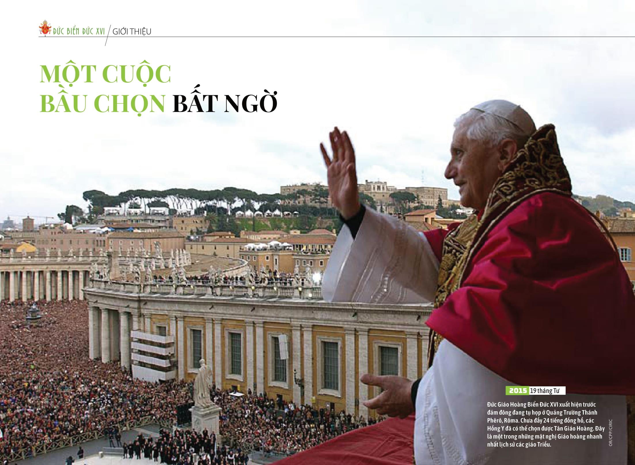 ĐỨC GIÁO HOÀNG BIỂN ĐỨC XVI - RẤT KHIÊM NHU RẤT VĨ ĐẠI