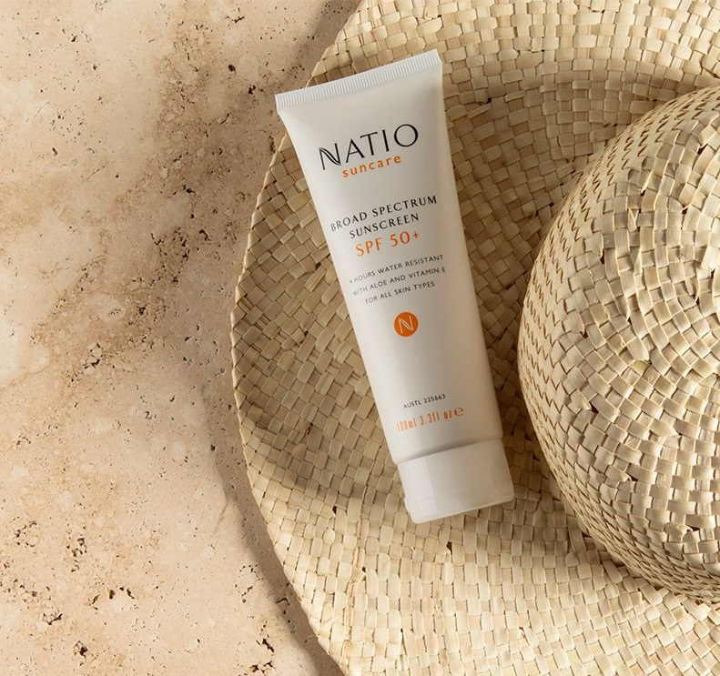 Kem Chống Nắng SPF 50+ Natio Suncare Broad Spectrum Sunscreen SPF 50+ 100ml