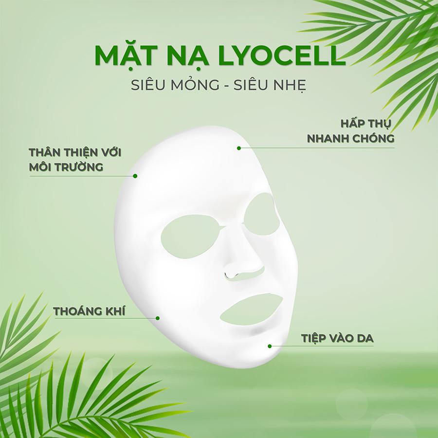 Set 5 Miếng Mặt Nạ Siêu Dưỡng Ẩm LAGIVADO HYDRA CALMING FACIAL MASK giúp da mềm mịn và căng bóng mỗi ngày