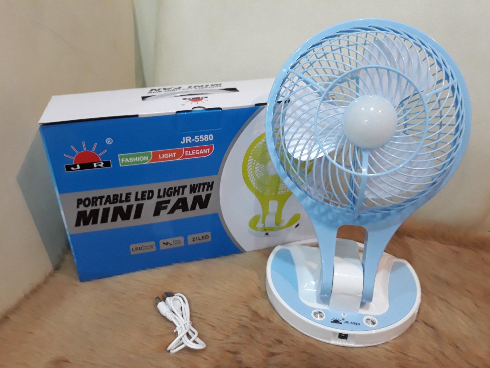 Quạt Mini Tích Hợp Đèn LED