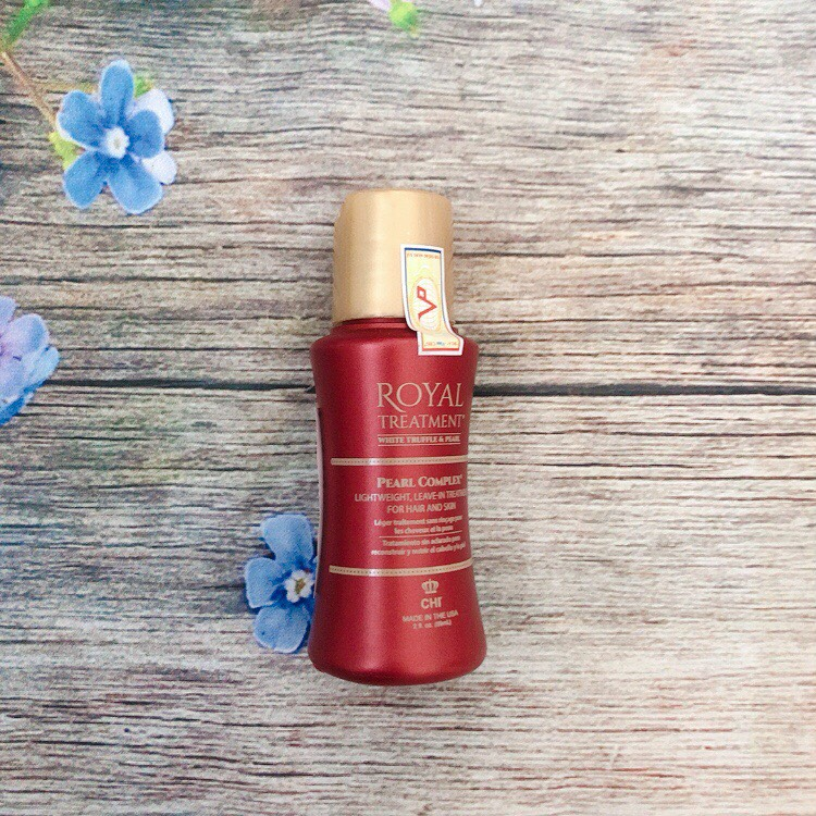 Tinh dầu dưỡng tóc CHI Royal Treatment Pearl Complex Mỹ cho tóc khô xơ rối hư tổn 59ml - Hàng chính hãng