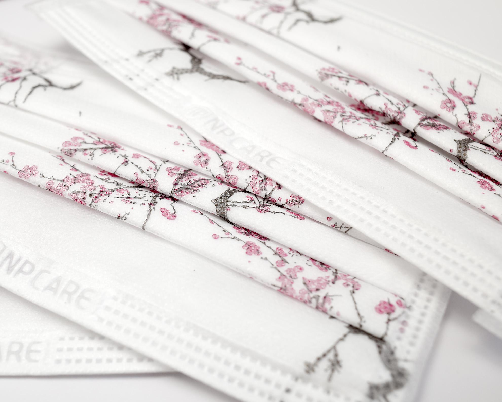 Khẩu trang y tế 4 lớp hoa đào Blossom NPCARE - Hộp 50 cái