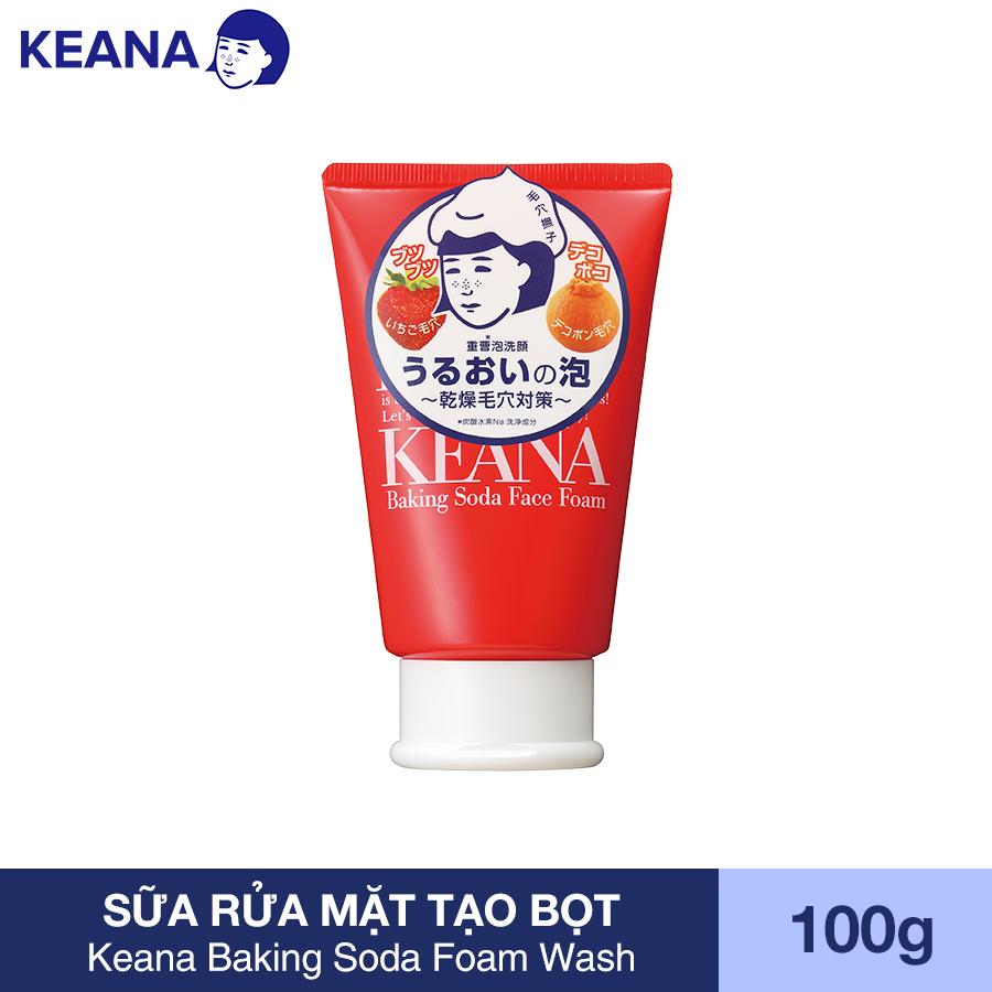 Sữa Rửa Mặt Tạo Bọt Giảm Mụn Đầu Đen Keana Baking Soda Foam Wash (100G) - HÀNG CHÍNH HÃNG