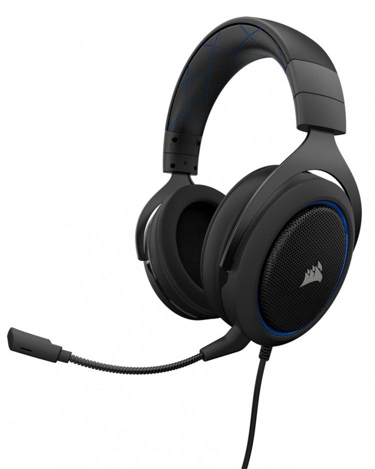 Tai nghe Corsair HS50 Stereo Blue - Hàng chính hãng