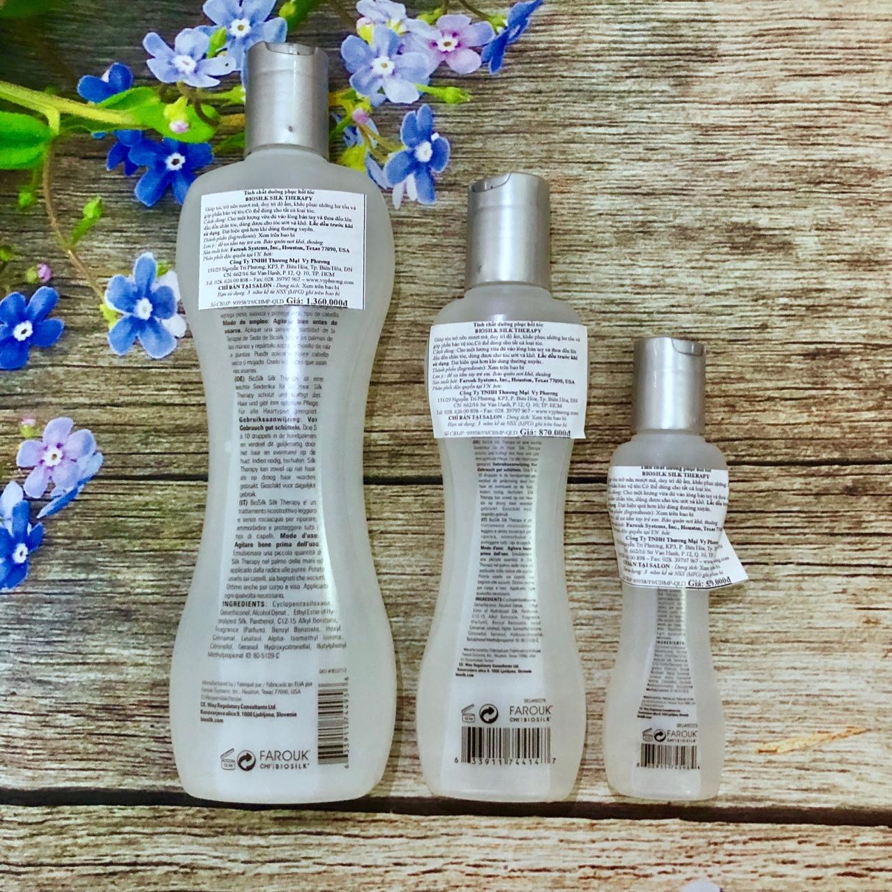 Tinh dầu Biosilk Silk Therapy dưỡng tóc cao cấp Mỹ 67ml