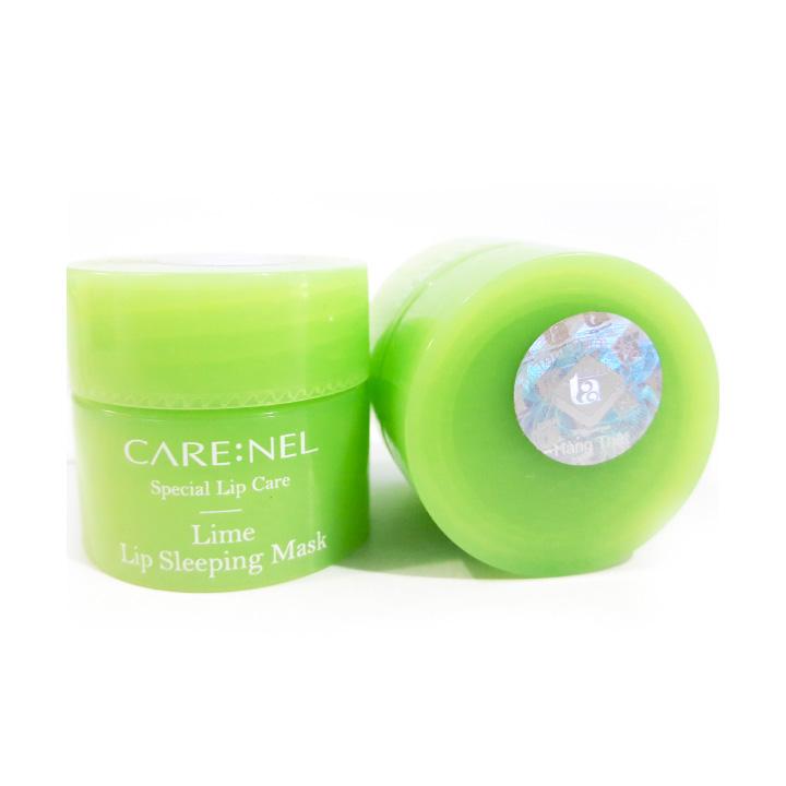 Mặt nạ ngủ môi dưỡng ẩm và tẩy tế bào chết hương chanh Care:nel Lip Sleeping Mask Lime 5g
