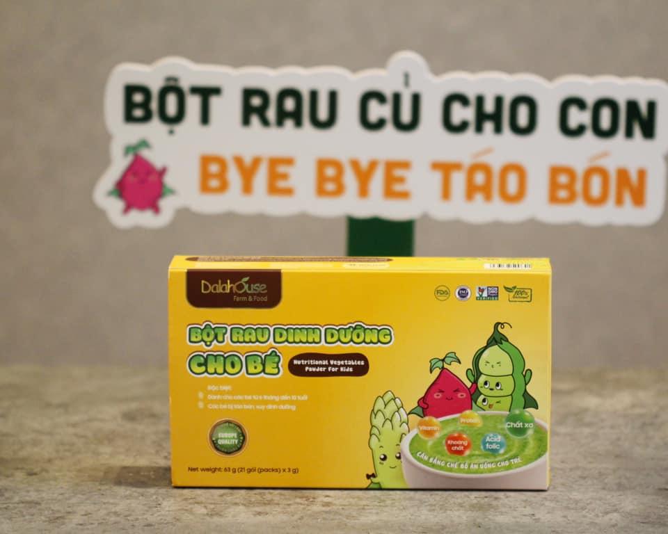 Bột rau dinh dưỡng cho bé Dalahouse - Hộp 21 gói 3gr với 7 vị - Cân bằng chế độ dinh dưỡng cho trẻ