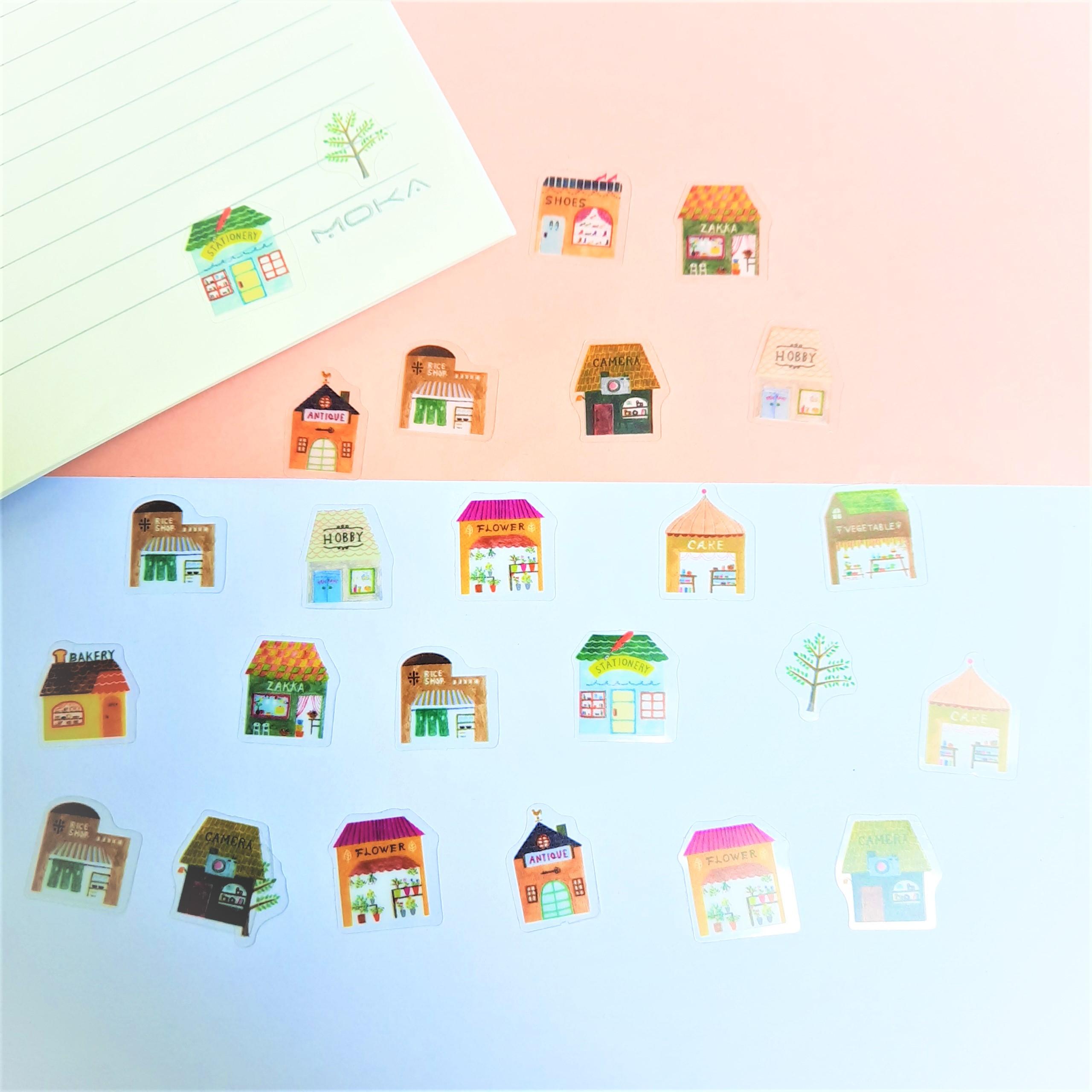 Combo 2 Bộ 32, 48 Sticker Hình Dán Mini Ngôi Nhà
