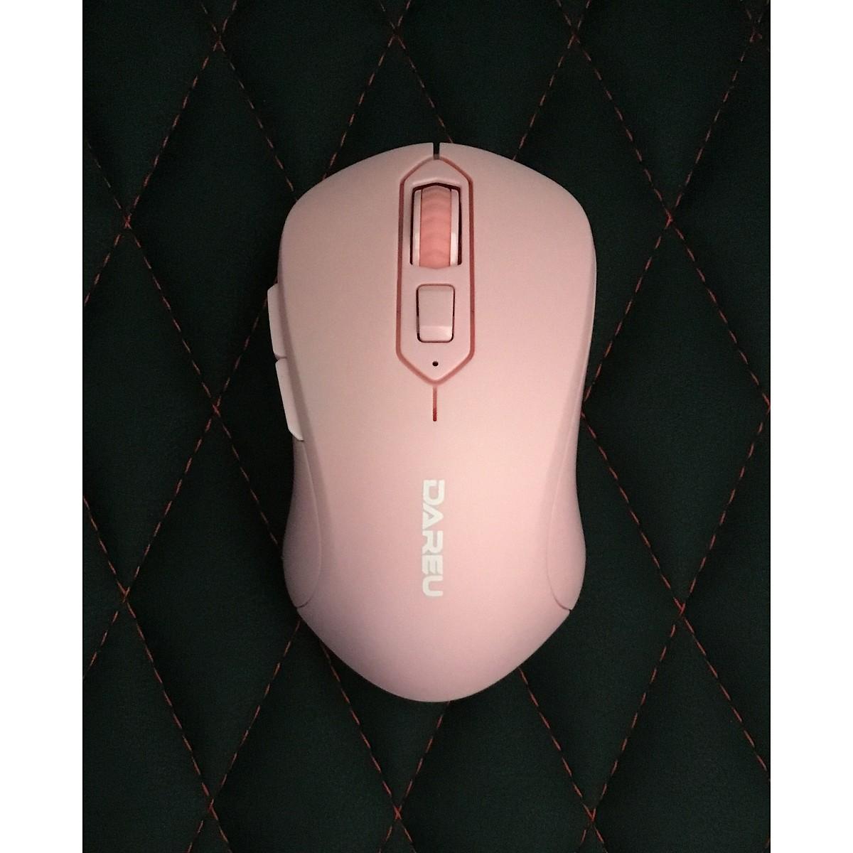 Chuột chơi game Dare U LM115G Pink - Hàng chính hãng
