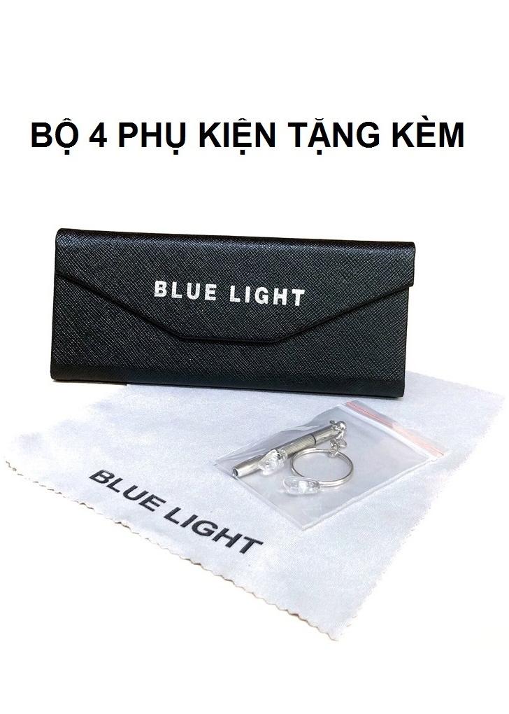 Kính Giả Cận, Gọng Kính Cận Nam Nữ Mắt Vuông To Gọng Nhựa Đen Nhám Siêu Nhẹ Không Độ Hàn Quốc - BLUE LIGHT SHOP