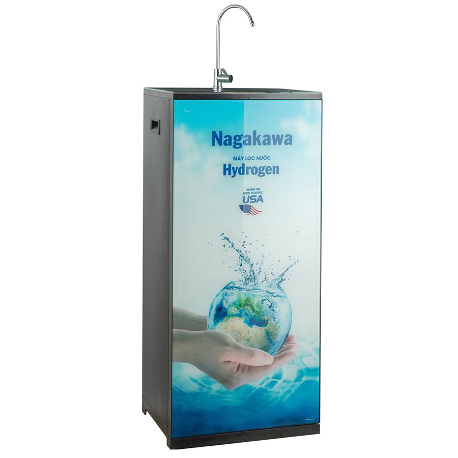 Máy Lọc Nước R.O 9 Lõi Nagakawa NAG0507FB - Hoa Văn Hình Trái Đất  - Hàng Chính Hãng