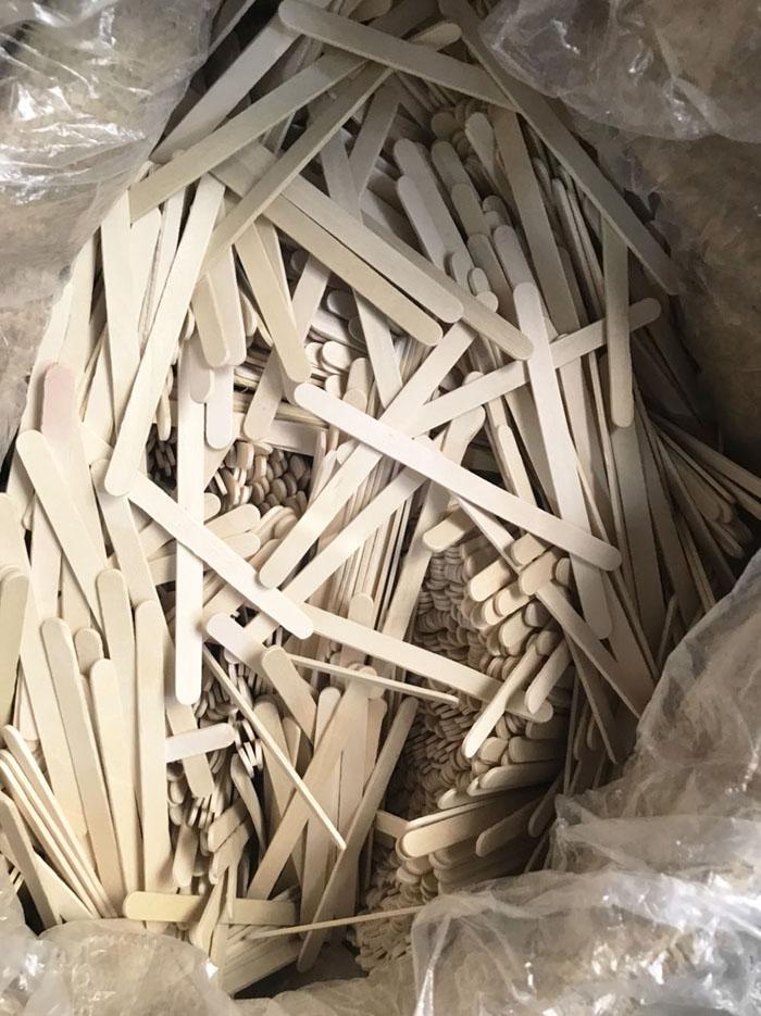 Que kem gỗ làm mô hình, 500gr que kem làm mô hình độc đáo có tặng kèm que xiên nhọn giúp bạn dễ dàng làm mô hình handmade