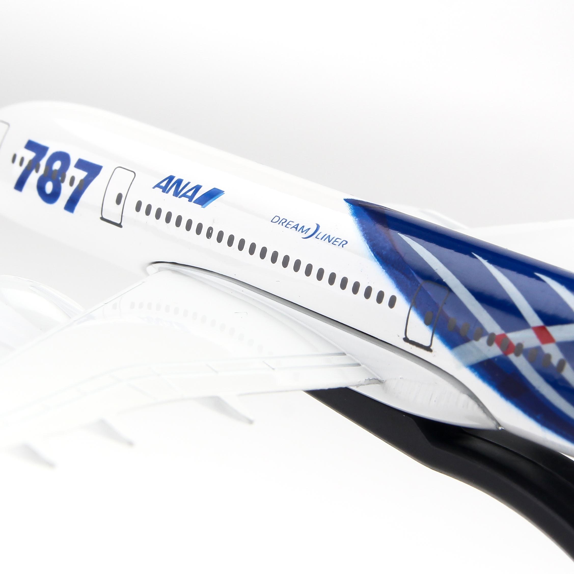 MÔ HÌNH MÁY BAY B787 ANA AIRLINE EVERFLY 16CM