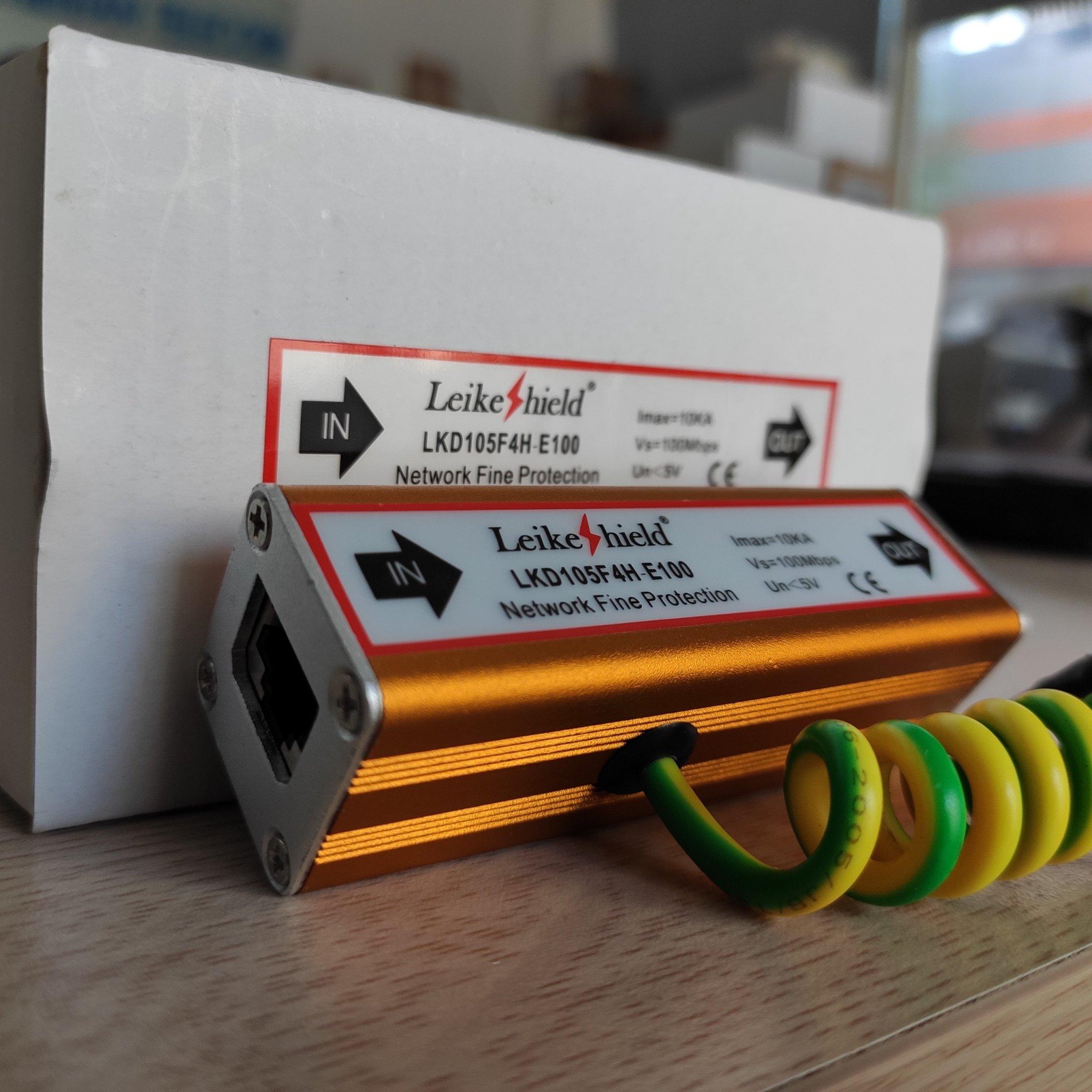 Thiết bị chống sét lan truyền mạng lan rj45 cho camera IP LKD105F4H-E100