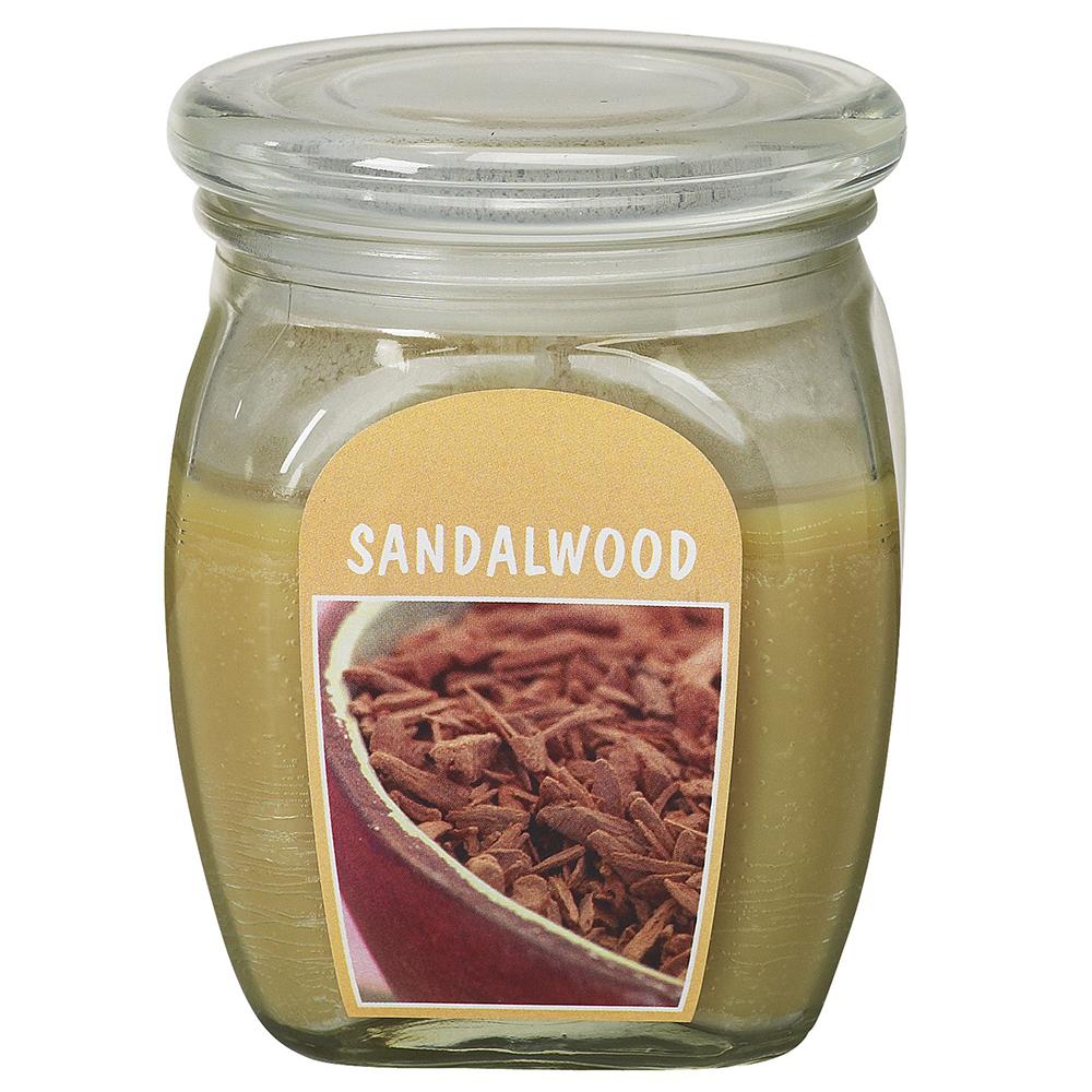 Hũ nến thơm tinh dầu Bolsius Sandalwood 305g QT024373 - gỗ đàn hương