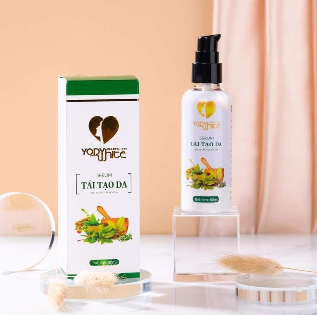 Serum tái tạo da Yody White Phương Anh thảo dược làm da trắng mịn sạch mụn tàn nhang se khít lỗ chân lông ngăn ngừa lão hóa