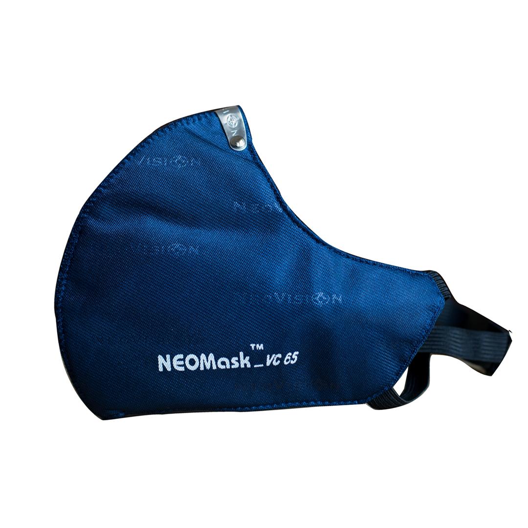 Combo 05 Mặt nạ - Khẩu trang than hoạt tính NeoMask Neovision VC65 đạt chuẩn N95(Thun Qua Gáy)- Chống bụi siêu mịn PM2.5, lọc khuẩn BFE 95% (Được cấp bởi Nelson Lab), kháng khuẩn, chống giọt bắn, có thể giặt tái sử dụng nhiều lần- Xanh đậm
